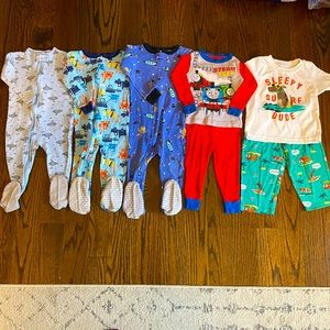 CARTER'S++ Baby Boy 7pc Pajamas Bundle - 18mo